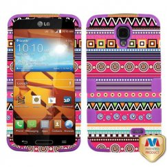 LG LS740 Volt Tribal Fashion/Electric Purple Hybrid Case