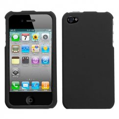 Apple iPhone 4/4s Black Case - Rubberized
