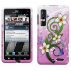 Motorola Droid 3 Tropical Flowers Phone Protector Cover