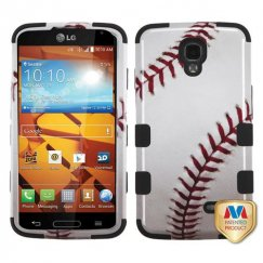 LG LS740 Volt Baseball-Sports Collection/Black Hybrid Case