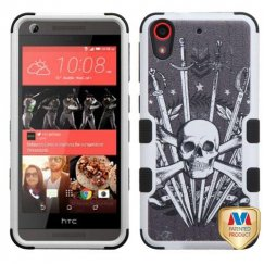 HTC Desire 626 Sword & Skull/Black Hybrid Case