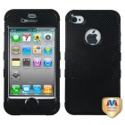Apple iPhone 4/4s Carbon Fiber/Black Hybrid Phone Protector Cover