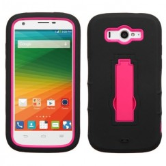 ZTE Imperial 2 Hot Pink/Black Symbiosis Stand Case