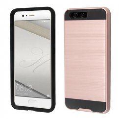 Rose Gold/Black Brushed Hybrid Case