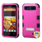 ZTE Speed Natural Hot Pink/Black Hybrid Case with Stand