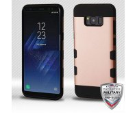 Samsung Galaxy S8 Plus Rose Gold/Black Hybrid Protector Cover [Military-Grade Certified]