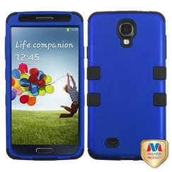 Samsung Galaxy S4 Titanium Dark Blue/Black Hybrid Case