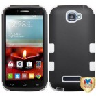 Alcatel One Touch Fierce 2 Rubberized Black/Solid White Hybrid Phone Protector Cover