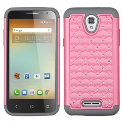 Alcatel One Touch Elevate Pearl Pink/Gray FullStar Case