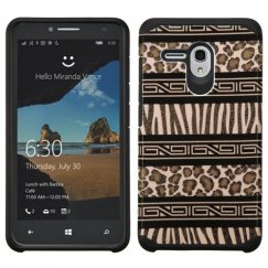 Alcatel One Touch Fierce XL Zebra Skin-Leopard Skin/Black Advanced Armor Case