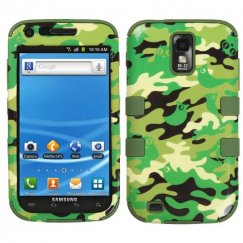 Samsung Galaxy S2 Green Woodland Camo/Army Green Hybrid Case