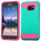 Samsung Galaxy S7 Active Teal Green/Hot Pink Brushed Hybrid Case