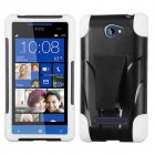 HTC Windows Phone 8s White Inverse Advanced Armor Stand Protector Cover