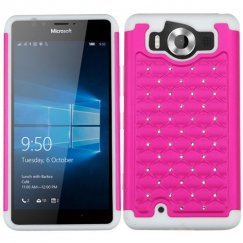 Nokia Lumia 950 Hot Pink/Solid White FullStar Case