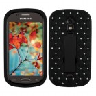 Samsung Galaxy Light Black/Black Symbiosis Stand Case with Diamonds