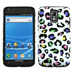 Samsung Galaxy S2 Colorful Leopard Fusion Case - Rubberized