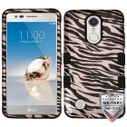 Zebra Skin/Black (2D Rose Gold)/Black Hybrid Phone Protector Cover [Military-Grade Certified]
