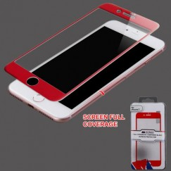 Apple iPhone 7 Full Coverage Tempered Glass Screen Protector/Red
