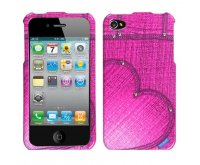 Blushing Heart Jean Phone Protector Cover with Studs