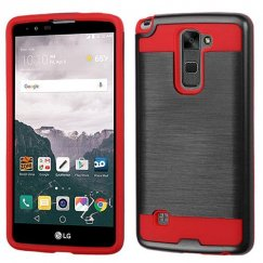 LG LG G Stylo 2 Plus Black/Red Brushed Hybrid Case