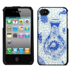 Apple iPhone 4/4s Blue and White Porcelain Bottle Dream Case