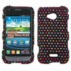 Samsung Galaxy Victory 4G LTE Sprinkle Dots Diamante Case