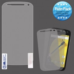 Motorola Moto E 2nd Gen Screen Protector Twin Pack