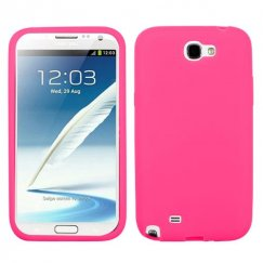 Samsung Galaxy Note 2 Solid Skin Cover - Electric Pink