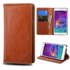 Samsung Galaxy Note 4 Brown Genuine Leather Wallet
