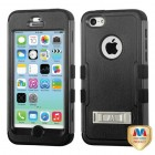 Apple iPhone 5c Natural Black/Black Hybrid Case with Stand