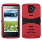 Huawei Premia 4G Black/Red Wave Symbiosis Case with Horizontal Stand
