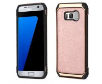 Samsung Galaxy S8 Plus Rose Gold Lychee Grain(Rose Gold Plating)/Black Astronoot Protector Cover