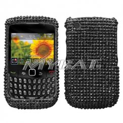 Blackberry 8520 Black Diamante Case