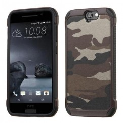 HTC One A9 Camouflage Gray Backing/Black Astronoot Case