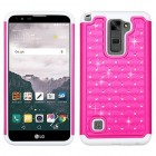LG LG G Stylo 2 Plus Hot Pink/Solid White FullStar Protector Cover