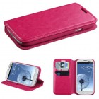 Samsung Galaxy S3 Hot Pink Wallet with Tray