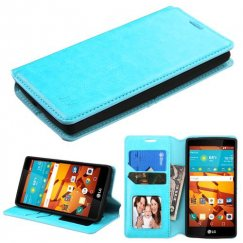 LG LS751 Volt 2 Blue Wallet with Tray