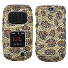 Samsung Rugby 3 Leopard Skin/Camel Diamante Protector Cover