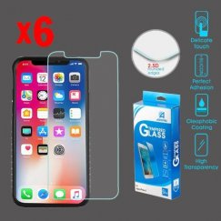 Apple iPhone X Tempered Glass Screen Protector (2.5D)(6-pack)
