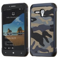 Alcatel One Touch Fierce XL Camouflage Navy Blue Backing/Black Astronoot Case