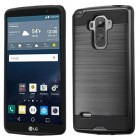 LG G Stylo Black/Black Brushed Hybrid Case