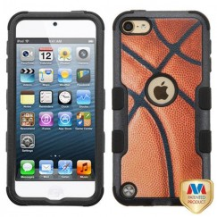 Apple iPod Touch (6th Generation) Basketball-Sports Collection/Black Hybrid Case