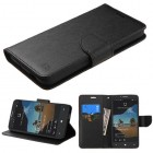 Alcatel One Touch Fierce XL Black Pattern/Black Liner wallet with Card Slot