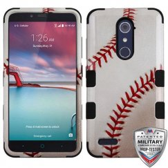 ZTE Grand X Max 2 Baseball-Sports Collection/Black Hybrid Case Military Grade