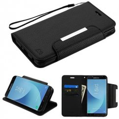 Samsung Galaxy J7 Black Wallet -WP