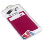 Hot Pink Genuine Leather Adhesive Card Pouch