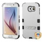 Samsung Galaxy S6 Natural Gray/Black Hybrid Case with Stand
