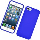 Apple iPhone 5 Rubberized Snap On Cover, Blue