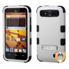 ZTE Speed Natural Gray/Black Hybrid Case with Stand