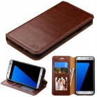 Samsung Galaxy J7 Brown Wallet(with Tray) -WP